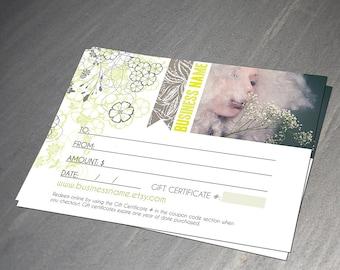 Margarita gift certificate design - Instant download