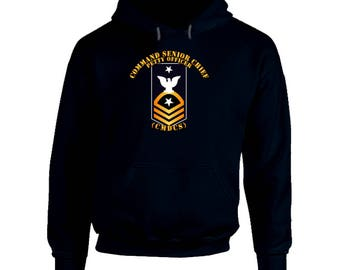Navy - Cmdcs - Blue - Gold With Txt Hoodie