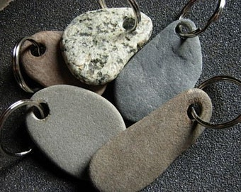 To have and to hold beach stone key rings