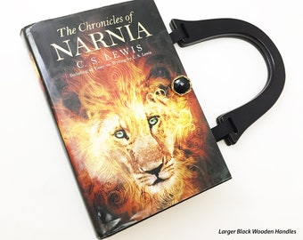 The Chronicles Of Narnia Book Purse - Narnia Book Cover Handbag - CS Lewis Book Clutch - Lion The Witch and The Wardrobe Book Purse -