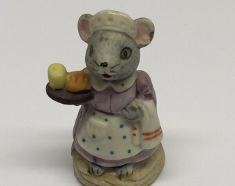 Russ Figurine MAID Lil' Mouse Town Porcelain Miniature Occupation Mice