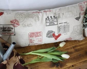 "Farmhouse 12x24"" Pillow /  Modern Farmhouse 12x24"" Handmade Pillow"