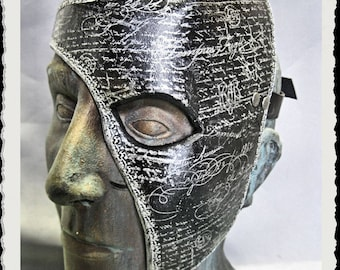 Leather half mask - Whispers -