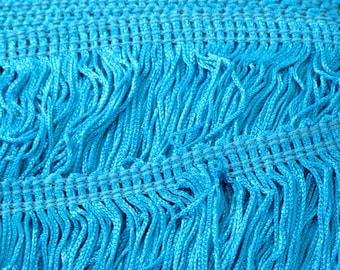 """Franges de Chainette bleu turquoise 12"""" garniture, Costumes de danse, décoration, pompon en garniture, garniture de couture, Costume Trim, fournitures, par la Cour"""