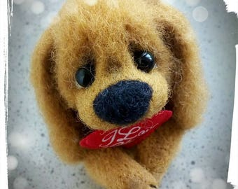 Sweet-nose Cocker Spaniel. Needle felting. OOAK. ADOPTED