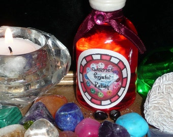 GARNET Crystal POTION Handmade Natural Rain Water