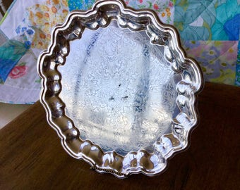 Silver plate tray, Eales Silver Plate, 11 1/2""