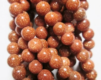 """Goldstone Beads - Round 3 mm Beads - Full Strand 15"""", 99 beads, A-Quality"""