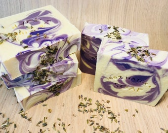 Lavender Dreams Cold Process Soap / 100% Natural Handmade Soap / Vegan Soap
