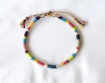 Multicolor anklet style atebas wrap hippie anklet Brasilda