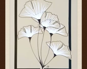Drawing original flowers - Lechapeaudlagamine