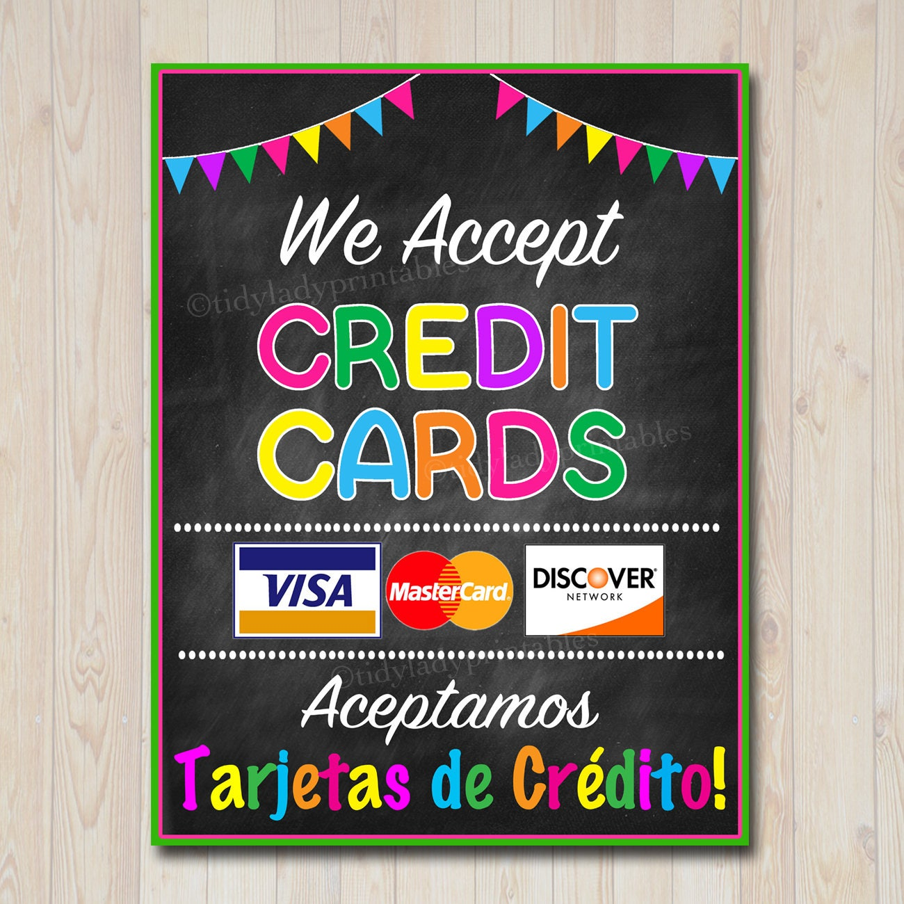 It's just a picture of Mesmerizing We Accept Credit Card Signs Printable