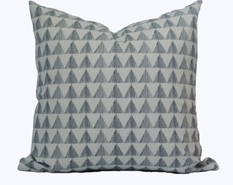 "Grey triangle pillow cover ""Columbus"""