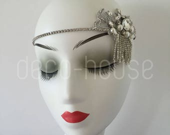 Tasseled Dangling Rhinestone Flower Hair Accessories Jewellery Headband Headpiece
