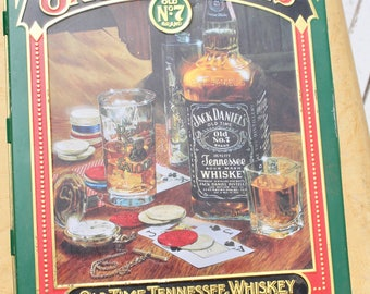 Vintage Jack Daniels Old No. 7 Tin With Collectible Stickers