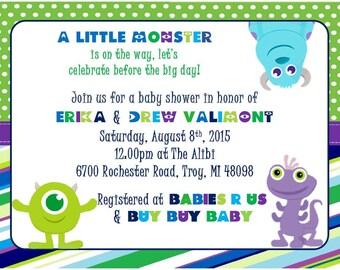 Monsters Inc Baby Shower Invitation ...