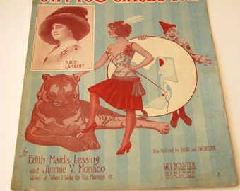 Antique Sheet Music, Oh! You Circus Day, Wall Art