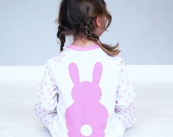 Baby Pajamas - Personalised Bunny Rabbit Pyjamas - Personalised Pyjamas