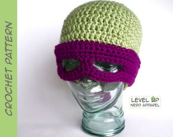 Masked Reptile beanie CROCHET PATTERN || 3 sizes || Instant Download