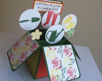 Handmade Happy Birthday Gardening Card,Mother's Day, Get well soon Card, New Home Card, Gardener Card