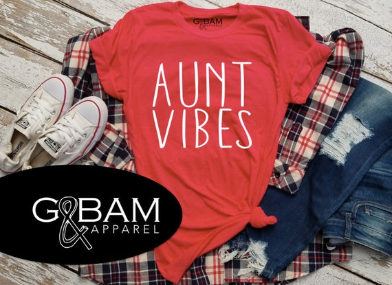 AUNT VIBES /Auntie tee/ You're a Aunt / new aunt gift / future auntie / we're Pregnant / Item: 148976