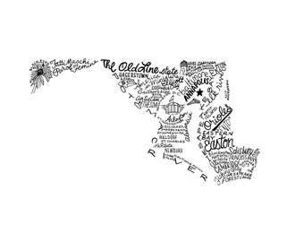 Maryland - Hand drawn illustrations and type