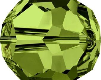 Swarovski Crystal Round Beads 5000 - 3mm 4mm 5mm 6mm 7mm 8mm 10mm - Olivine
