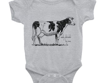 EASILY DISTRACTED by COWS, Baby Onesie, Newborn Infant Bodysuit, Cow Onesie, Baby Shower Gift, Cattleman, Christmas Gift, Birthday Gift,