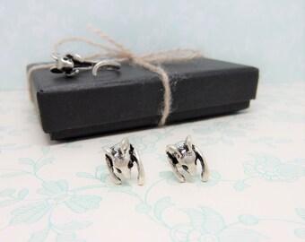 Rat Earrings, Small Studs, Rat Jewellery, Petite Earrings, Rodent Jewelry
