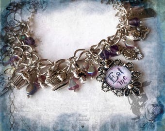 Alice in wonderland jewellery charm bracelet