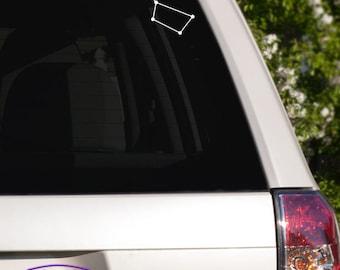 Big Dipper Constellation Car Window Decal