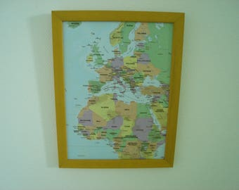 Yellow decor European map