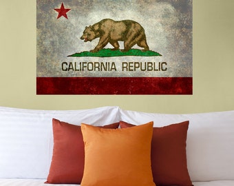 California State Flag Wall Sticker Decal by Bruce Stanfield