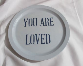 The Plate Collection.Plate Collectors, Plate Collage, Handmade plates, Inspirational plates, Sentimental Wall Hangings