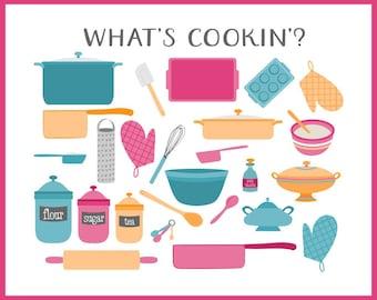Cooking Clip Art | Baking Clip Art | Foodie Graphics | Blog Graphics | Vector Graphics