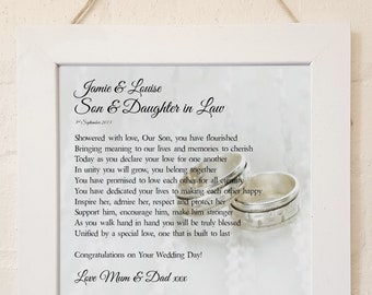 Daughter in law poem etsy personalised son daughter in law framed poem stopboris Image collections