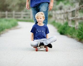 Little Dipper Constellation T-Shirt, Kids Tshirt, Graphic Tee, Boys Girls Top, Kids Baby Clothing Gift, Blackbird Tees