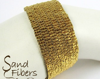 Gold Peyote Bracelet