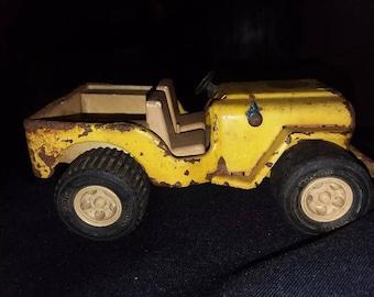 """Vintage metal Tonka 6"""" mini jeep"""