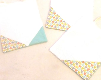 Box 3 bibs of cotton fabric and sponge - free shipping