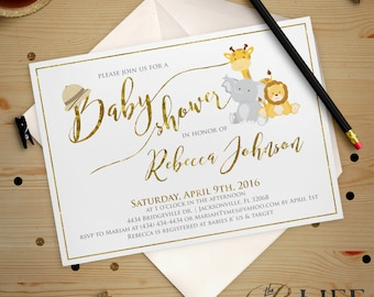 It's A Jungle Out There Baby Shower Invitation Digital Printable Professionally Printed DIY No. I269