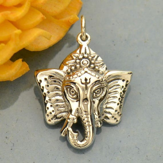 Sterling silver ganesh pendant elephant head elephant god sterling silver ganesh pendant elephant head elephant god elephant pendant ganesh god ganesh charm elephant charm silver ganesh from aloadofball Image collections