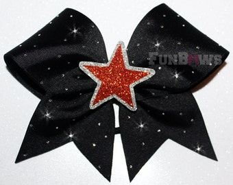 Glitter Star  Rhinestone  Cheer Bow  by FunBows !