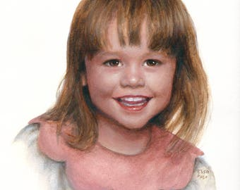 Custom Portrait Painting, Acrylic Portrait, Custom Child Portrait, Personalized Art, Portrait Painting Of Children, Portrait From Photo