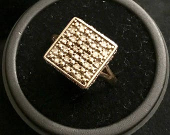 9ct Yellow Gold and Diamond Ring (repurposed from earrings)