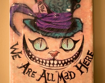 Cheshire Cat Mad Hatter Distressed Photo