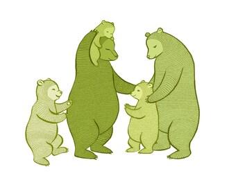 "The ""B"" Team - Bear family Large print"