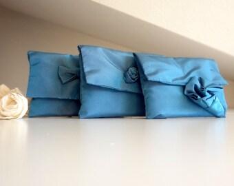 Blue bridesmaid clutch perfect wedding gift, blue wedding clutch
