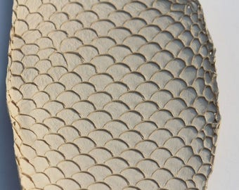 Genuine fish Tilapia leather subtle khaki leather skin