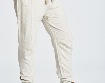 Linen Drop Crotch Pant Ivory